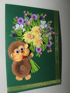 Quilling greeting card 100% handmade by QuillingLife on Etsy
