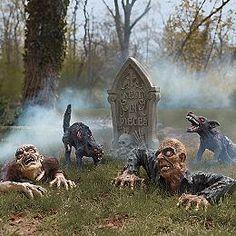 Animated Zombies - Zombie Figures - Tombstones - Grandin Road - halloween decorations