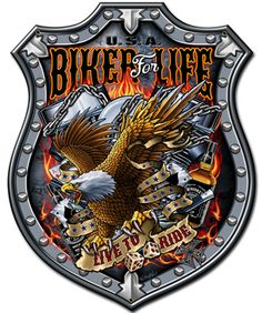 This Bikers For Life plasma metal sign comes from the Steve McDonald Signs licensed collection. It measures 24 inches by 30 inches and weighs 7 pound(s). Harley Davidson Fotos, Harley Davidson Pictures, Harley Davidson Wallpaper, Classic Harley Davidson, Harley Davidson Chopper, Harley Davidson Motorcycles, Harley Davidson Decals, Harley Bikes, Steve Mcdonald