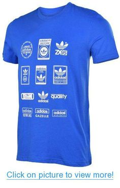 Adidas Originals Men's Labels Trefoil T-Shirt-Blue