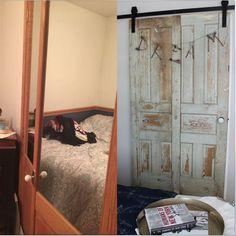 vintage doors to the rescue in our guest room update , doors, The door before…