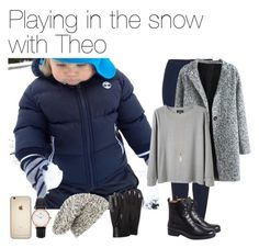 """""""Playing in the snow with Theo"""" by vane-abreu ❤ liked on Polyvore featuring Topshop, A.P.C., Zoya, Daniel Wellington, Label Lab and Isotoner"""