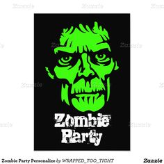 Zombie Party Personalize Card