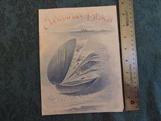 1897 Manhattan Beach Coney Island Brooklyn Long Island Program Cover