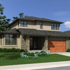 Contemporary (with Suite) - Robinson Plans Model House Plan, Small House Plans, House Floor Plans, 2 Storey House Design, Bungalow House Design, Simple House Design, House Front Design, Architectural Technologist, House Construction Plan