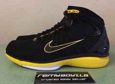 4229fa462cc7 Nike Air Zoom Huarache 2K4 Black Maize Yellow Men s Sz 12 PRM QS Trainer  Run