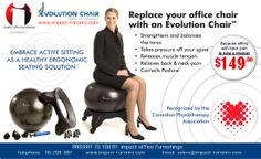 """The Ergonomic Ball Chair. Told ya, """"We've got your back""""."""