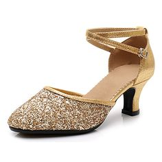 Baile Latino, Salsa Shoes, Latin Shoes, Burgundy Heels, Ballroom Dance Shoes, Fashion Slippers, Thick Heels, Toe Shape, Sequins