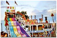 Love the fun slide at the Canfield Fair!