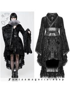 Haut kimono transformable veste gothique punk lolita geisha jacquard PunkRave