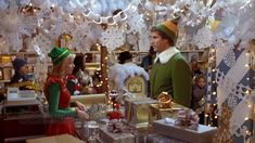 Everyone knows the best way to spread Christmas cheer is singing loud for all to hear! But the second best way is to enjoy 'Elf. Elf Christmas Decorations, Elf Decorations, Holiday Decorating, Decorating Ideas, Office Decorations, Christmas Displays, Snowflake Decorations, Office Christmas, Christmas Elf