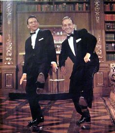 High Society Frank Sinatra and Bing Crosby 1956 Magazine Print Page Soft Shoe routine Party time in the Library  Drinking Champagne