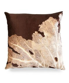 AVIVA STANOFF Seafan on Kohl Pillow $250***BEST PRICE GUARANTEE*** FREE WORLD SHIPPING ORDER PICK UP IS ALSO AVAILABLE
