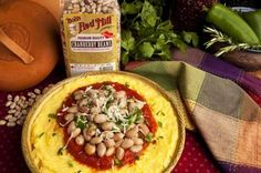 Cranberry Beans in Tomato Sauce with Creamy Polenta