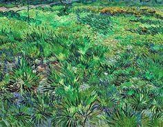 Vincent Van Gogh / Long Grass with Butterflies