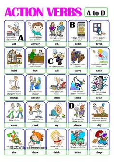 Awesome Action Verbs Worksheet For Grade 1 that you must know, Youre in good company if you?re looking for Action Verbs Worksheet For Grade 1 Learning English For Kids, Kids English, English Lessons, Learn English, English Verbs, English Vocabulary, English Grammar, Verbs For Kids, Verb Words