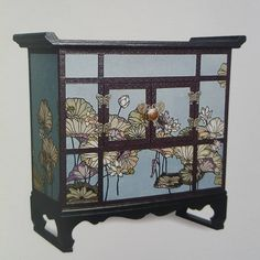 Paper Furniture, Painted Furniture, Trunks And Chests, Traditional Interior, Decoration, Home And Living, Paper Art, Lotus, Diy And Crafts