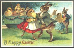 Vintage Easter cards -- the irreverent descriptions are hilarious.