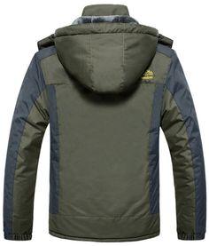 Men Golf Clothing - Sawadikaa Mens Outdoor Waterproof Mountain Fleece Plus  Size Ski Jacket Raincoat Windbreaker 6cbad1d92