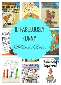 Check out these 10 fabulously funny children's books - your kids will love them!