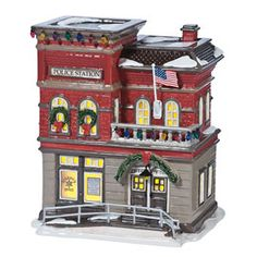 "Department 56: Products - ""SVPD Precinct 76"" - View Lighted Buildings"