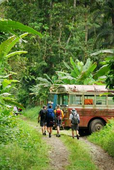 You can't get to Coroma by road and according to the locals there are no running vehicles but these old buses crossed the river somehow and used to ply the track running from the village to the landing