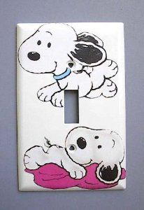 Baby Snoopy Single Switch Plate switchplate Peanuts: Everything Else Snoopy Nursery, Baby Snoopy, Snoopy Love, Snoopy And Woodstock, Baby Boy Nurseries, Babies Nursery, Girl Nursery, Nursery Themes, Theme Bedrooms