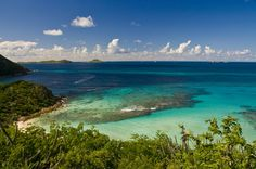 The islands in the British Virgin Islands.