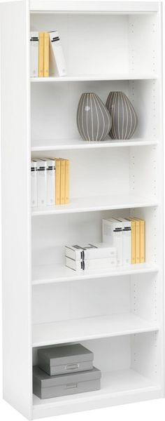 Dieses Regal in ansprechendem Weiß überzeugt durch seine hohe Funktionalität: 5 verstellbare Einlegeböden garantieren viel Platz für Ihre Bücher und Dekoration. Dank seines natürlichen Designs passt das Möbelstück in jedes Zimmer. Universal einsetzbar und in bestem Design: Dieses geschmackvolle Regal(B/H/T ca. 72/194/36 cm)ist unverzichtbar für Ihr Zuhause!