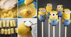 DIY Mini Minion Cake Pops