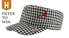 Enter to win this Alabama Rolltide houndstooth cabbie hat by The Honour Society! #sugarbowl