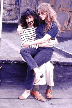 Frank & Gail Zappa. Late 60s.