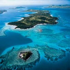 turtle island fiji | Turtle Island by seaplane, you pass over jagged volcanic islands ... my dream place!