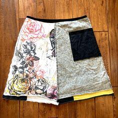 Romantic shabby chic upcycled t-shirt skirt, Women's upcycled clothing, tshirt skirt, eco organic clothing upcycle recycle repurpose, Medium by Theupcycledcloset on Etsy