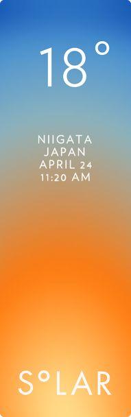 新潟市 中央区 weather has never been cooler. Solar for iOS.