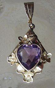 Lovely. #Amethyst #pendant #Vintage