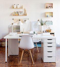 Desk Ikea Home Office Ideas . Desk Ikea Home Office Ideas . Linnmon Alex Table Ikea Also Like Glasholm top Mesa Home Office, Home Office Space, Home Office Desks, Home Office Furniture, Small Office, White Office, Office Workspace, Small Workspace, Small Desks