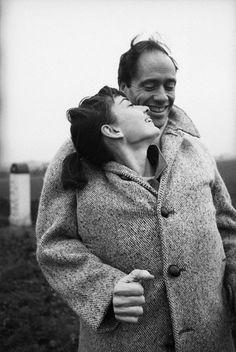 Audrey Hepburn and husband Mel Ferrer made spooning chic. Credit: Michael Ochs Archives/Corbis.