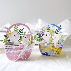 A pocket full of scrap: In the spotlight: Spellbinders Small and Large Die of the Month kits - March 2020 Easter Projects, Easter Crafts, Holiday Crafts, Easter Decor, Easter Ideas, Vintage Birthday Cards, Spellbinders Cards, Shaped Cards, Happy Birthday Images