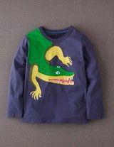 Big Creature Appliqué T-shirt (Storm/Crocodile)