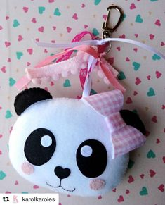 panda party key chain favor