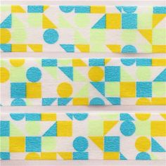 mt Washi Masking Tape deco tape circle triangle square neon blue 2