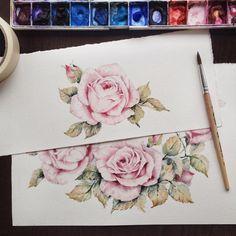 Розы  нежные, красивые, из сада, который в голове по всем вопросам пишите в Директ или на почту #ihappygirl_sale  Друзья! Спасибо большое за ваши комментарии к предыдущему посту, я даже себе представить не могла такое количество желающих получить мою картинку