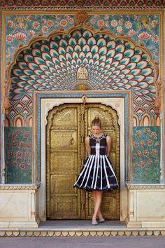 Pleated Plaid Dress #anthrofave