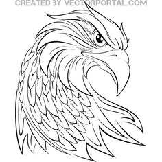 Find images of Eagle+Head. Wood Craft Patterns, Wood Burning Patterns, Ave Tattoo, Animal Drawings, Art Drawings, Falcon Tattoo, Eagle Drawing, Eagle Painting, Eagle Vector