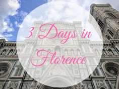 Spending 3 days in Florence? Here's the itinerary I give my friends and gets you to the top sights at the right time of day. Includes where to eat and sleep