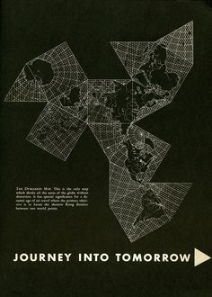 photo    Buckminster Fuller Dymaxion Map, from an edition of Gentry, 1953