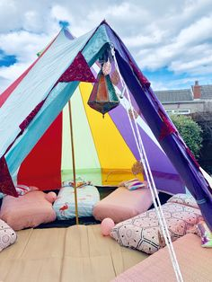 Flamingos and stripes. Beautiful sleepover for 8 x 8 year olds. With pink bedding and a flamingo accent for the birthday girl Girl Birthday, Birthday Ideas, 8 Year Old Girl, Bell Tent, Pink Bedding, 8 Year Olds, Sleepover, Birthdays, Stripes