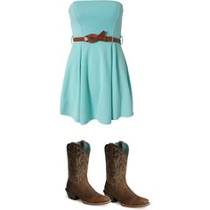 country girl look:):) Country Girl Hair, Country Girl Look, Country Girls Outfits, Dresses With Cowboy Boots, Dress Boots, Cowgirl Boots, Passion For Fashion, Cool Outfits, Girl Fashion