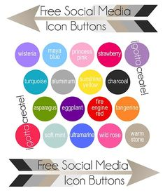 Get your free Social Media Icon Buttons in these colors compliments of I Gotta Create! Social Media Buttons, Social Media Icons, Classroom Websites, Business Articles, Business Ideas, Free Followers, Blog Planner, Blog Design, Signs
